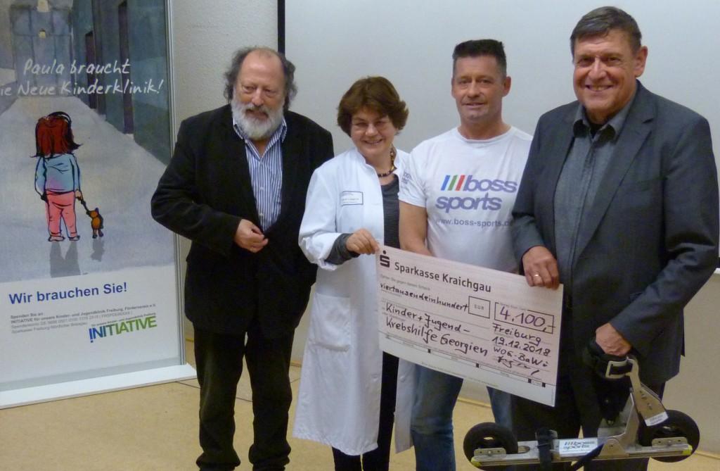 Spendenübergabe in Freiburg am 19.12.2018